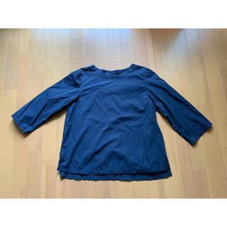 ムジルシリョウヒン(MUJI (無印良品))の無印 100パーセントコットン ネイビートップス(シャツ/ブラウス(長袖/七分))