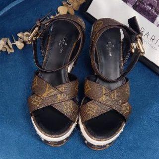 厚底靴 LOUIS VUITTON 大人気 サンダル レディース