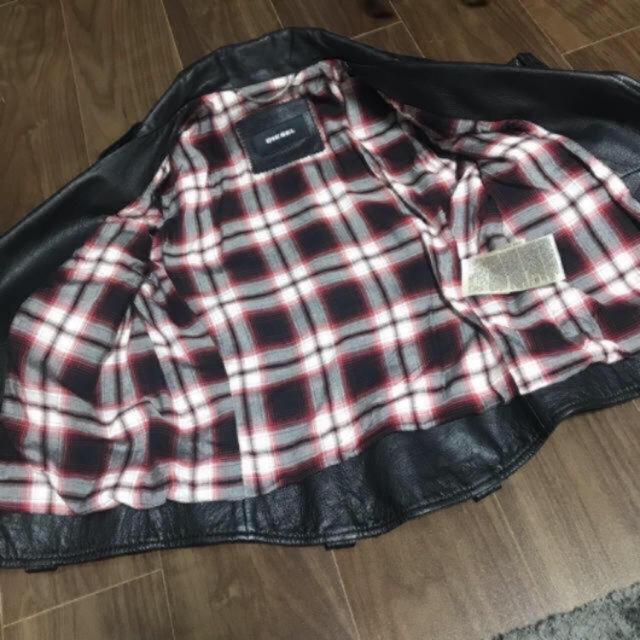DIESEL(ディーゼル)のあんぱん様 専用 お値下げ 美品 DIESEL Sサイズ レディースのジャケット/アウター(ライダースジャケット)の商品写真