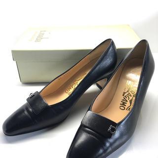 ☆Salvatore Ferragamo フェラガモ☆ドレスシューズ/革靴/黒