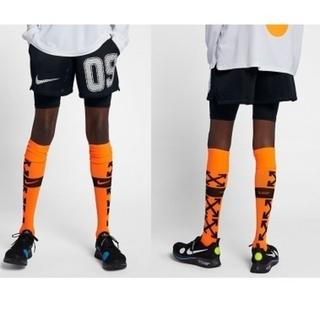 オフホワイト(OFF-WHITE)のOff-white × Nike サッカー ソックス orange(ソックス)