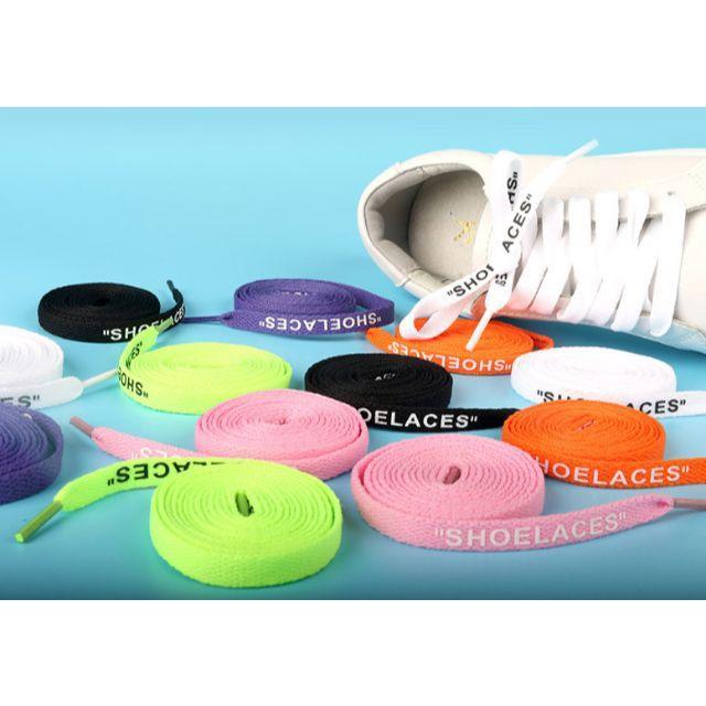 SHOELACES 平ひも 2本セット シューレースカスタム レディースの靴/シューズ(その他)の商品写真