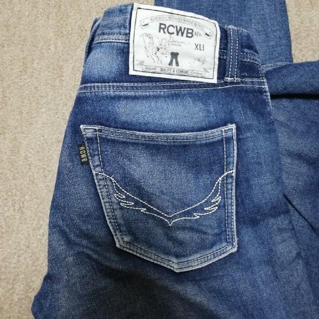 RODEO CROWNS WIDE BOWL(ロデオクラウンズワイドボウル)のRCWB  デニムアンクル丈パンツ28 レディースのパンツ(デニム/ジーンズ)の商品写真