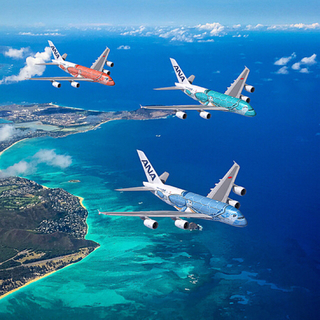 ANA(全日本空輸) -  全日空 1/200  ANA A380 FLYING HONU エアバスブルー
