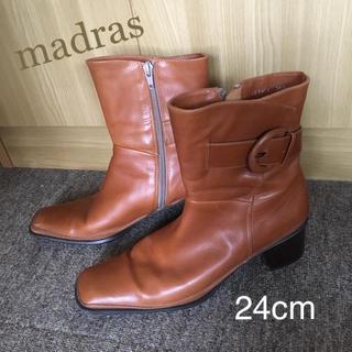 マドラス(madras)の○ マドラス  本革ショートブーツ 24cm  (ブーツ)