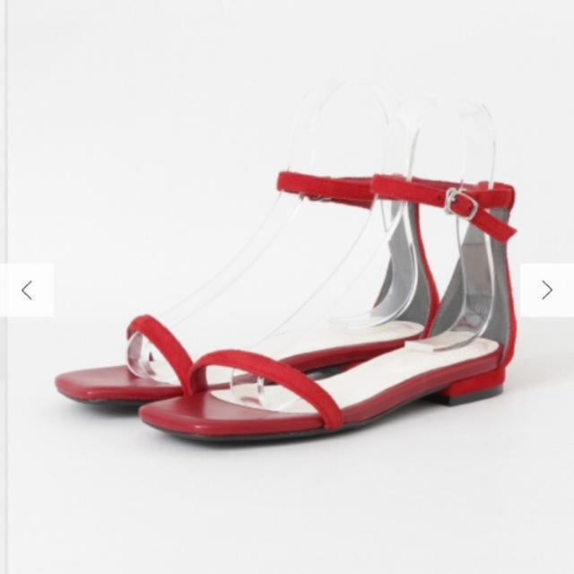 SENSE OF PLACE by URBAN RESEARCH(センスオブプレイスバイアーバンリサーチ)のワンストラップ フラットサンダル レッド レディースの靴/シューズ(サンダル)の商品写真