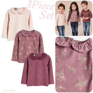 NEXT - NEXT☆ピンク・襟付き長袖Tシャツ3枚セット