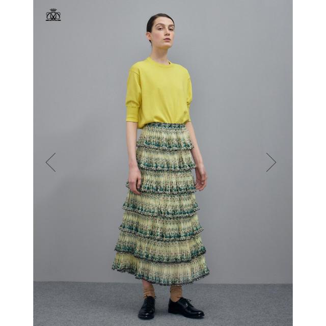 Drawer(ドゥロワー)の美品 2019SS ドゥロワー Drawer 16Gコットンクルーネックニット レディースのトップス(ニット/セーター)の商品写真