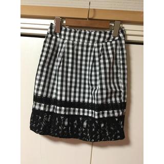 マーキュリーデュオ(MERCURYDUO)のMERCURYDUO  裾レースミニスカート(ミニスカート)