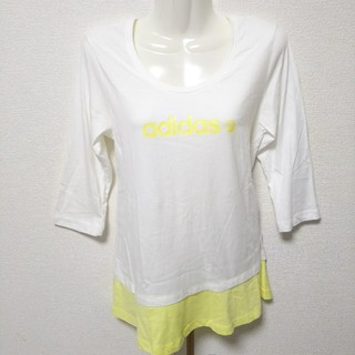 アディダス(adidas)の美品 adidas アディダス  七分丈 Tシャツ(Tシャツ(長袖/七分))