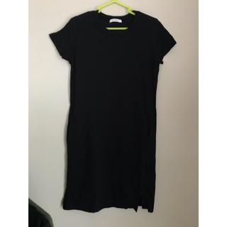 moussy - MOUSSY マウジー Tシャツ ワンピース 黒 裾 スリット