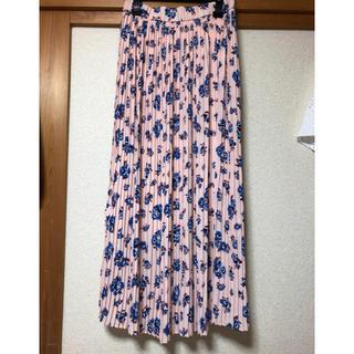 ZARA - ザラ 花柄プリーツロングスカート