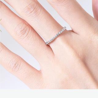 お値下げ❗️オレフィーチェ K18WG ダイヤ0.10ct エタニティ15号(リング(指輪))
