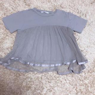 ケービーエフ(KBF)のチュールTシャツ(Tシャツ(半袖/袖なし))