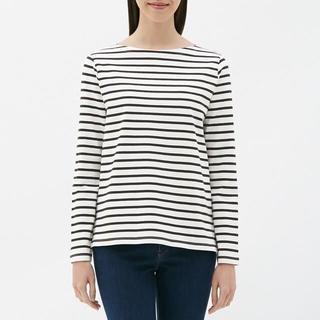 ジーユー(GU)のボーダーボートネックT(長袖) GU ジーユー(Tシャツ(長袖/七分))