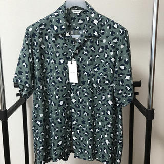 COMOLI - WELLDER ウェルダー Open Collar Shirt teal 新品