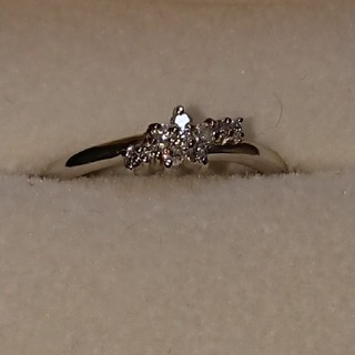 (日本製)正規品Pt900天然ダイヤモンドファッションリング(リング(指輪))