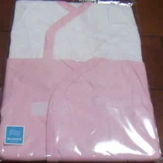 新品 ベビー カバーオール 肌着 2枚 ピンク ハート サイズ50~60