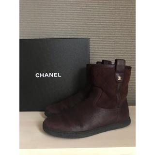 シャネル(CHANEL)のCHANEL シャネル✨ムートンブーツ 38 ★ ショートブーツ(ブーツ)