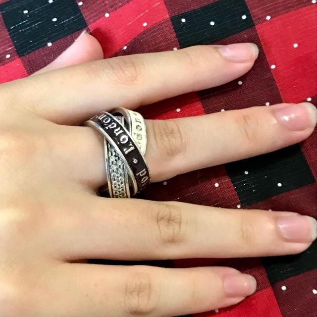 Vivienne Westwood(ヴィヴィアンウエストウッド)のヴィヴィアン メイフェア 3連 リング レディースのアクセサリー(リング(指輪))の商品写真