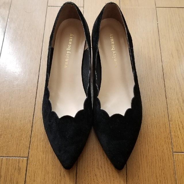 vanitybeauty(バニティービューティー)のお値下げ バニティビューティー フラワーパンプス24・5cm レディースの靴/シューズ(ハイヒール/パンプス)の商品写真