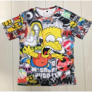 レア!! シンプソンズ  バート  Tシャツ  モザイク背景(Tシャツ/カットソー(半袖/袖なし))