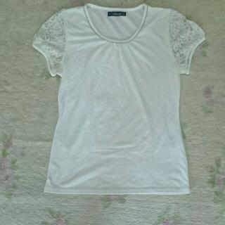 断捨離sale袖レースのお洒落なシャツ(Tシャツ(半袖/袖なし))