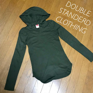 DOUBLE STANDARD CLOTHING - DOUBLE STANDERD CLOTHING パーカー カーキ