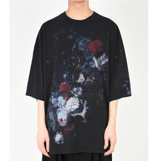 ラッドミュージシャン(LAD MUSICIAN)のラッドミュージシャン  花柄スーパービックTシャツ  黒 19SS 新品未使用(Tシャツ/カットソー(半袖/袖なし))