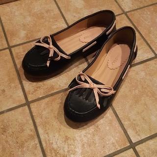 グッディgoodday紺ネイビー×ピンクローファー(ローファー/革靴)
