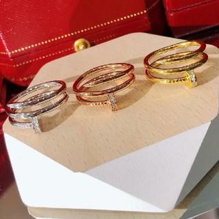 Cartier - 超美品!Cartier リング(指輪) 釘 クリスタル飾り Au750