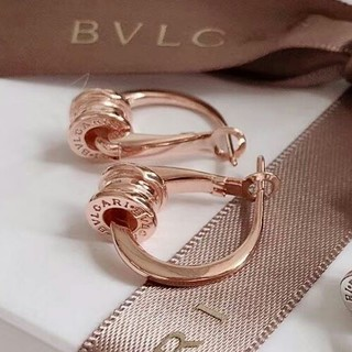 BVLGARI - 超美品Bvlgari ピアス ピンクゴールド 男女兼用 刻印