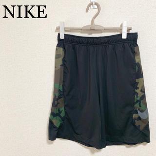 NIKE - NIKE ハーフパンツ メンズL 黒 迷彩柄 ビッグロゴ デカロゴ