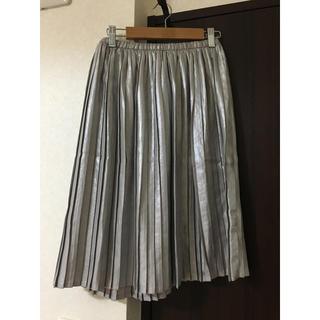 ハニーミーハニー(Honey mi Honey)の新品ハニーミーハニー シルバープリーツスカート(ひざ丈スカート)