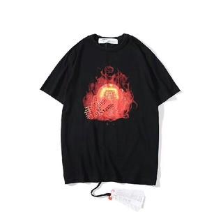 OFF-WHITE - OFF WHITE Tシャツ  メンズ  半袖  ブラック ファッション  新品
