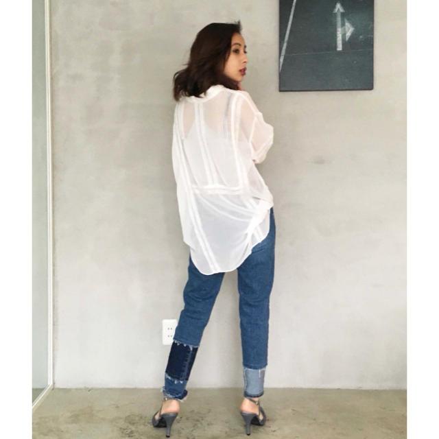 Ameri VINTAGE(アメリヴィンテージ)の未使用品 ameri vintage 2way lace blouse レディースのトップス(シャツ/ブラウス(長袖/七分))の商品写真