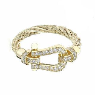 ホースシューリング silver925 18k gold plated ring