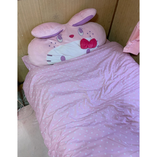 しまむら - ドットピンク寝具2点セットシングル