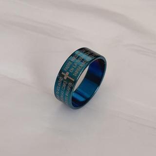 リング 指輪 メンズ ユニセックス ブルー 未使用(リング(指輪))