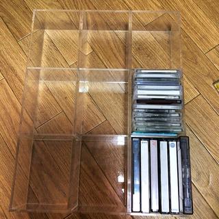 ムジルシリョウヒン(MUJI (無印良品))の無印良品 ラック 棚 小物入れ MD カセットテープ クリア 透明(ケース/ボックス)
