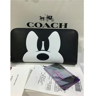 COACH - COACH コーチ  F54000 ミッキー  長財布   ブラック ディズニー