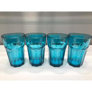 IKEA - 【4個セット】POKAL ポカール グラス, ターコイズ, 350 mℓ
