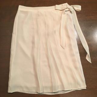 イネド(INED)の膝丈スカート ベージュ INED 7号(ひざ丈スカート)