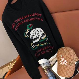 グッチ(Gucci)のGucci グッチ 刺繍 どくろ蛇の頭 セーター(ニット/セーター)
