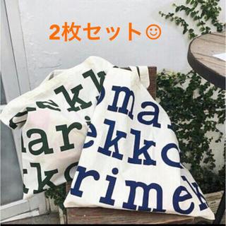 マリメッコ(marimekko)の【2枚セット】新品未使用 マリメッコ   トートバック エコバッグ(エコバッグ)
