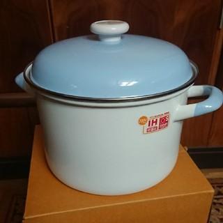 フジホーロー(富士ホーロー)のパスタパン 22㎝ Finland Blue(鍋/フライパン)