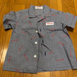 ミキハウス(mikihouse)のミキハウス kids 半袖シャツ 80㌢  白紺(シャツ/カットソー)