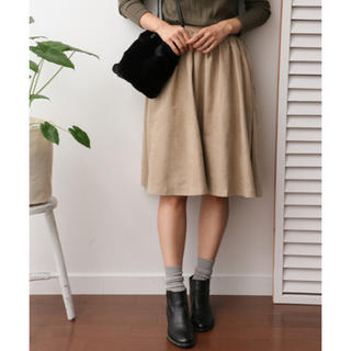 ドアーズ(DOORS / URBAN RESEARCH)の新品 アーバンリサーチDOORS フェイクスエードスカート(ひざ丈スカート)