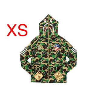 A BATHING APE - Adidas Football X Bape Shark Hoodie XS