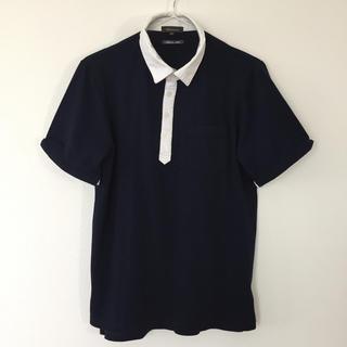 エムエフエディトリアル(m.f.editorial)のm.f.editorial ポロシャツ ネイビー 半袖 Mサイズ(ポロシャツ)